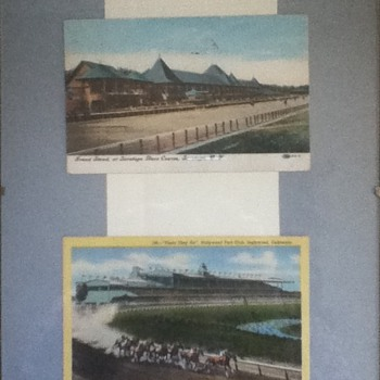 Saratoga Race Course and Hollywood Park Postcards