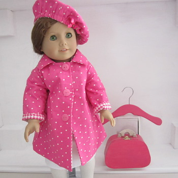 Handmade American Girl Doll Coat and Hat by Kim