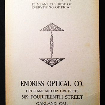 Optician Trade Card