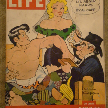 """Life"" magazine for March 1952 ""Marriage of Li'l Abner"" - Paper"