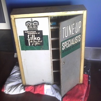 Fhilko Ignition Tune Up Service Station Cabinet - Petroliana