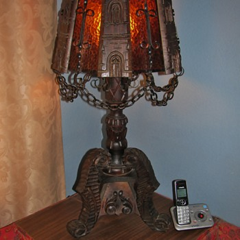 Set of Strange Hand Made Lamps I Found (1 floor/ 1 table)