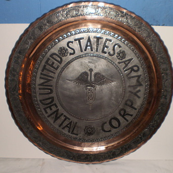 "army pewter 19"" plate - Military and Wartime"