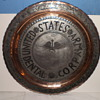 "army pewter 19"" plate"