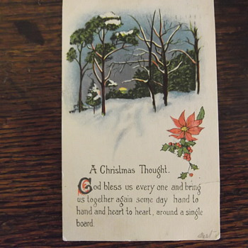 A GD&D series 5059 christmas card from 1914
