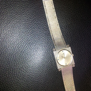 Jaeger le Coultre  gold watch and wrist band