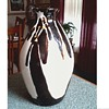 Chinese Shiwan Pottery Brown and White Drip Glaze Bottle-Vase /Impressed Mark/ Unknown Age and Maker