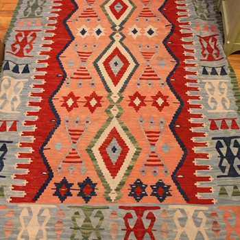 "Kilim Rug Wool ""Turkish""  - Rugs and Textiles"