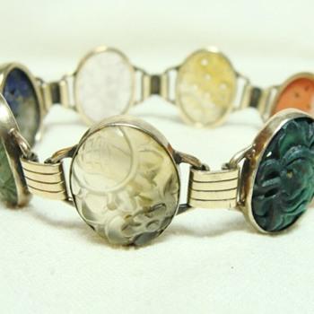 Vintage Carved Stone Bracelet