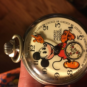 English Mickey pocket watch from the 30's