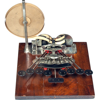 Stenograph 1 (Miles Bartholomew) - wooden base - 1882