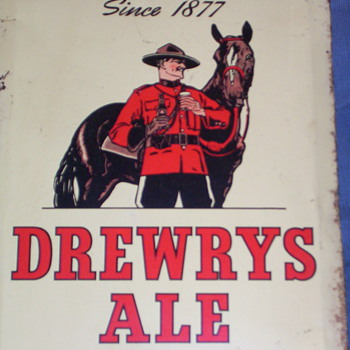 Tin sign - Breweriana