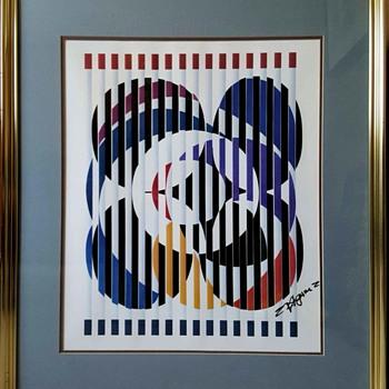 "Yaacov Agam Serigraph  ""An American Portrait"" - Mid-Century Modern"