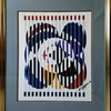 "Yaacov Agam Serigraph  ""An American Portrait"""