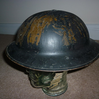 Re issued British WWI steel helmet - Military and Wartime