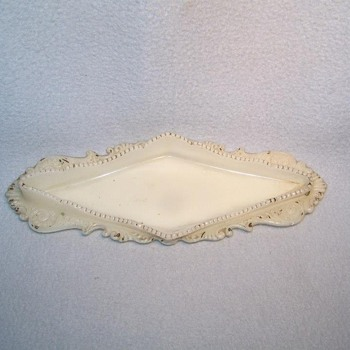 Victorian Milk Glass Pen Tray