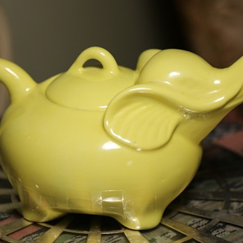 Bright Yellow Elephant Teapot - Animals