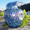 KRALIK FISH SCALES IRIDESCENT  VASE
