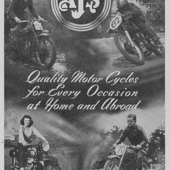 1950 A.J.S. Motorcycles Advertisement - Advertising
