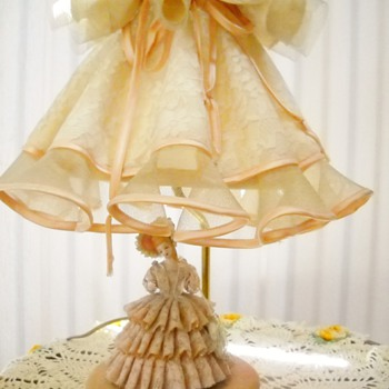Pink Dresden Lace Southern Belle Lamp