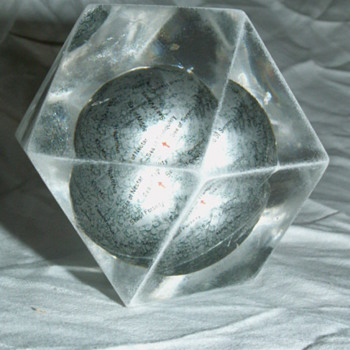 Vintage Small Moon Globe Paperweight