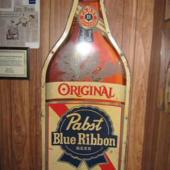 Pabst Blue Ribbon Sign - Signs