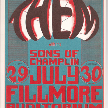 Them and the Sons of Champlin at the Fillmore - Posters and Prints
