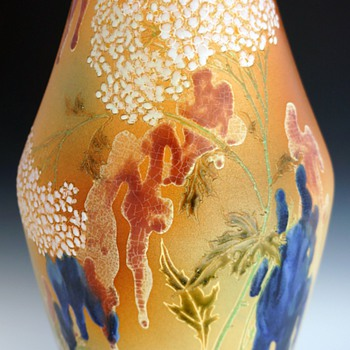 1895 Monumental Sized Gazo Foudji Vase for Hautin, Boulenger et Cie. (Choisy le Roi, France) - Art Pottery