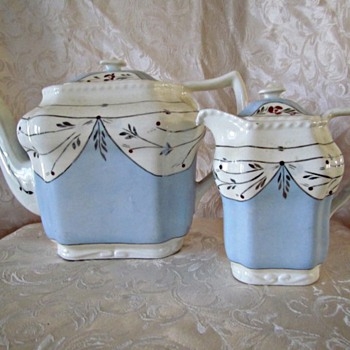 Cumbow Tea Pot and Creamer - China and Dinnerware