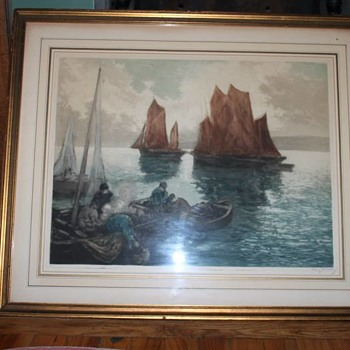 Vintage / Antique Maritime Art Work - Visual Art