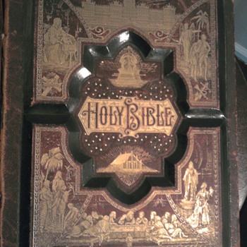 Pictorial Family Bible from 1886  - Books