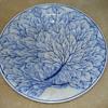 Blue-white majolica plates