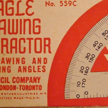 Art Deco 1936 Eagle Drawing Protractor