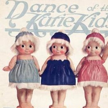 """CAN YOU IDENTIFY THE DOLLS ON """"DANCE OF THE KUTIE KIDS"""" 1919 SHEET MUSIC? - Dolls"""