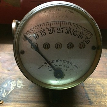 Old Brass SpeedoMeter - Motorcycles