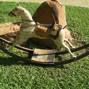 Rocking horse from 1800's - Folk Art