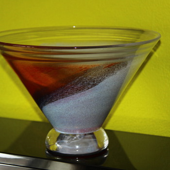 Kjell Engemann bowl - Art Glass