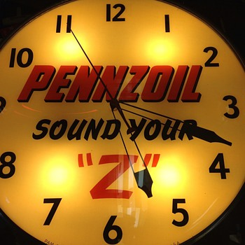 "pennzoil 20"" pam clock - Clocks"