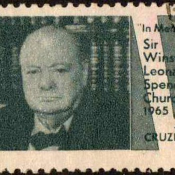 "Brazil - ""Sir Winston Churchill"" Postage Stamp"