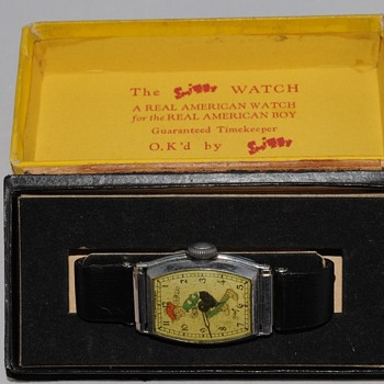 """SMITTY"" Wristwatch by New Haven Clock, Circa 1932/35"