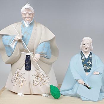 Kabuki Theme Japanese Hakata Doll :- Takasago