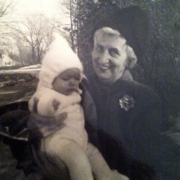 "Aunt Nellie & her little ""Sunny"" (me) - 1965 - Photographs"