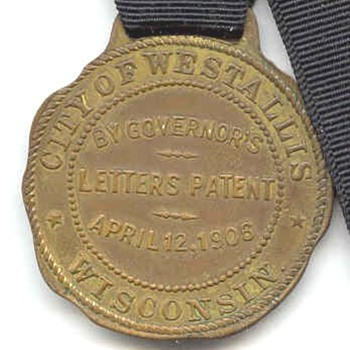 West Allis Wisconsin Error Watch Fob