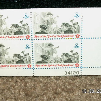 1973 Rise Of The Spirit Of Independence 8¢ Stamps ~ 1477