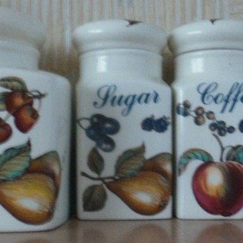 Biscuit, Tea, Coffee and Sugar Jars. - China and Dinnerware