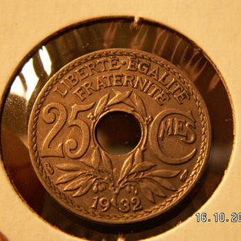 1932 France 25 Centimes - World Coins
