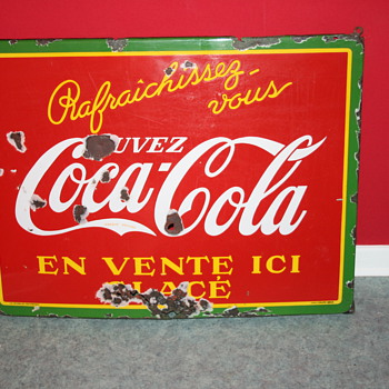 coca cola porcelain sign 1937 - Coca-Cola