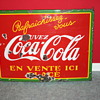 coca cola porcelain sign 1937