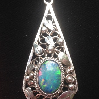 Rhoda Wager Silver Opal Pendant/ Necklace