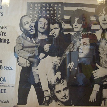 Poster of The Nice (rock band 60&#039;s) with images of Kennedys and Martin Luther King